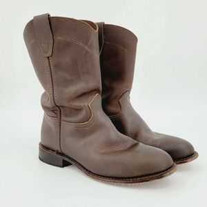 Rodeo Drive Cowboy Western Boots Leather Brown 8.5